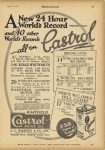 1925 4 8 A New 24 Hour World's Record and 40 other World's Records – all on Castrol MOTOR CYCLING 7.5″x11″ page B47
