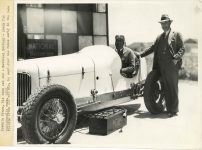 1933 Indy 500 National Batteries 10″×8″