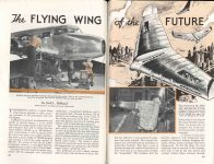 1938 2 THE FLYING WING of the FUTURE By Hall J. Hibbard, Chief Engineer, Lockheed Aircraft Corporation POPULAR MECHANICS pages 232 & 233