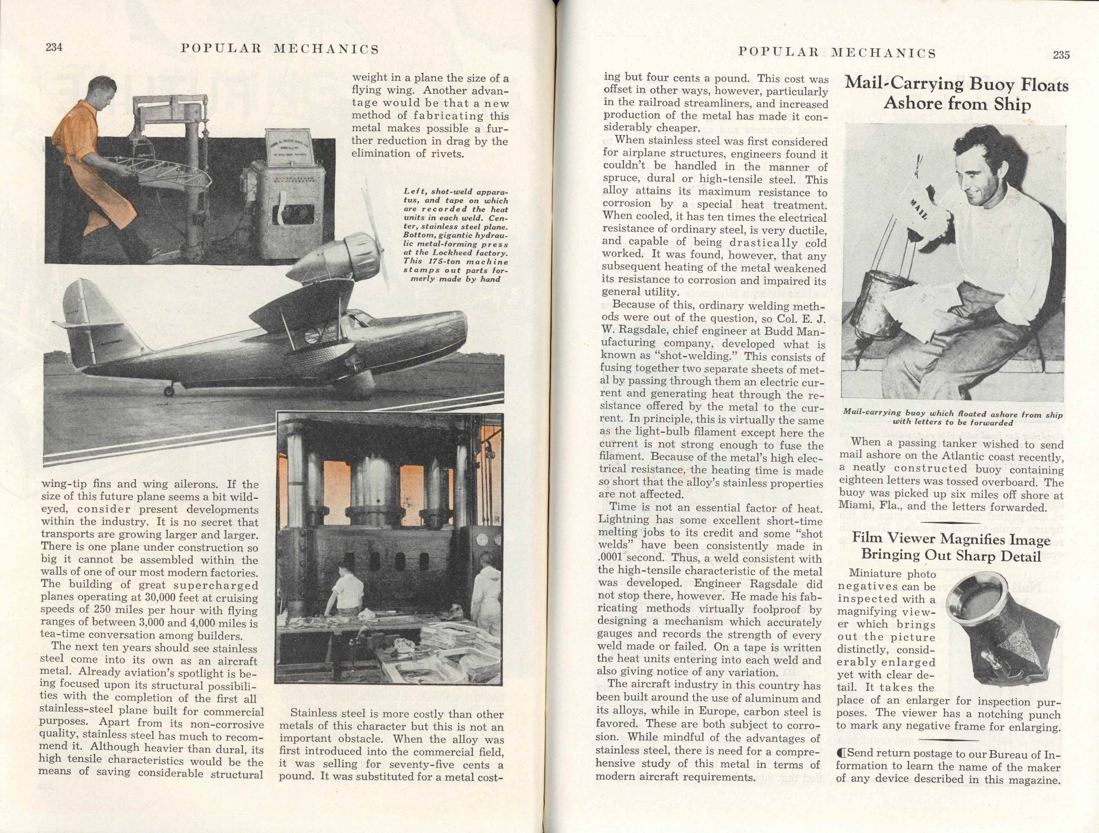 1938 2 THE FLYING WING of the FUTURE By Hall J  Hibbard, Chief