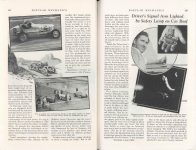 1938 2 The ROUGH ROAD to GLORY By Maj. George H. Robertson POPULAR MECHANICS pages 182 & 183