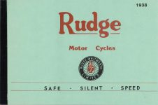 1938 RUDGE SAFE SILENT SPEED bro 9x6 repro FC