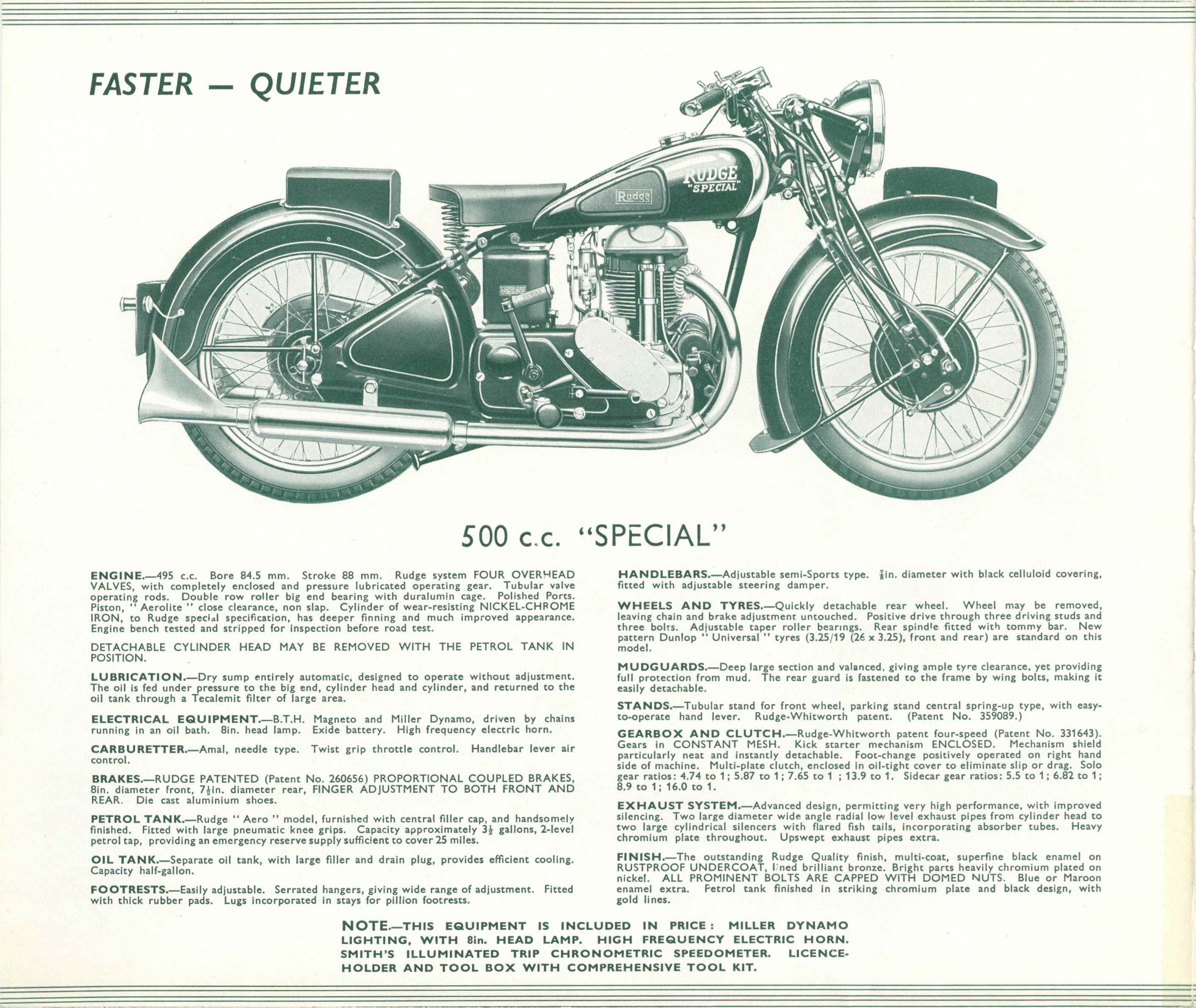 1939 RUDGE Quality Motor Cycles original Archives - Chuck's Toyland
