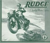 1939 RUDGE Quality Motor Cycles original 9x8 FC