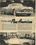 1952 PACKARD PACKARD Pan American Richard Arbib, well-known automobile stylist, spent much time designing and building the Pan-American page 14