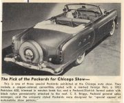 1952 PACKARD The Pick of the Packard's for Chicago Show Patrician 400 picture