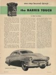 1953 BARRIS One step beyond Detroit the BARRIS TOUCH By Robert Lee Behme Motor Trend page 23