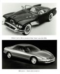 """1954 BUICK Wildcat II built in 1954, an examples of Buick """"dream"""" cars of the 1950's. 1988 Lucerne – Buick's latest concept car pictured 8″×10″"""