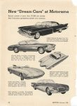 "1956 2 New ""Dream Cars"" at Motorama Record MOTOR page 58"