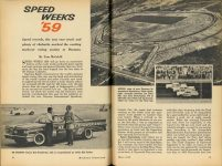 1959 5 SPEED WEEKS '59 By Tom McCahill MECHANIX ILLUSTRATED SPEED WEEKS '59 pages 84 & 85