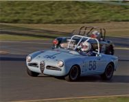 2016 4 1957 ALFA ROMEO Giulietta Spider CDT driving Sonoma Raceway April