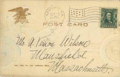 1908 9 29 Embossed comic postcard back