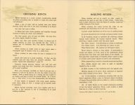 ca. 1909 HANDBOOK on the operation of MOTOR CARS and MOTOR BOATS Published by NATIONAL CARBON COMPANY pages 22 &23