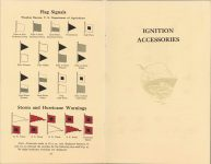 ca. 1909 HANDBOOK on the operation of MOTOR CARS and MOTOR BOATS Published by NATIONAL CARBON COMPANY pages 24 & 25