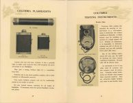 ca. 1909 HANDBOOK on the operation of MOTOR CARS and MOTOR BOATS Published by NATIONAL CARBON COMPANY pages 28 & 29
