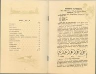 ca. 1909 HANDBOOK on the operation of MOTOR CARS and MOTOR BOATS Published by NATIONAL CARBON COMPANY pages 4 & 5