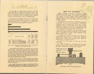 ca. 1909 HANDBOOK on the operation of MOTOR CARS and MOTOR BOATS Published by NATIONAL CARBON COMPANY pages 8 & 9