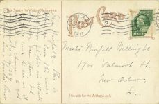 1911 2 8 Atlanta Speedway postcard back