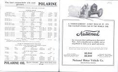 1911 Indy 500 program National