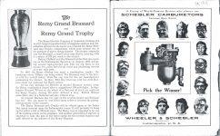1911 Indy 500 program SCHEBLER
