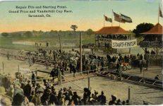 1911 Savannah Race Repair pits postcard front