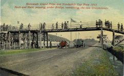 1911 Savannah Race grandstands postcard Front b