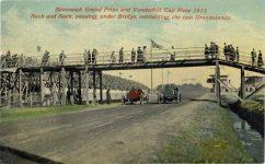 1911 Savannah Race grandstands postcard front c