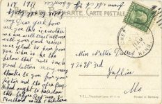 1911 ca. AN AUTO RACE postcard back