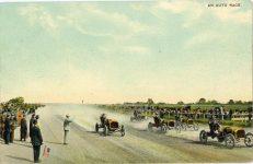 1911 ca. AN AUTO RACE postcard front