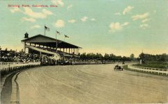 1914 12 10 Columbus OH race track postcard front