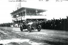 1914 ca Vanderbilt Cup Race Robertson in LOCOMOBILE photo 10″×7″
