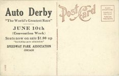 1915 6 26 SPEEDWAY PARK PC back