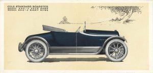 1915 COLE ADVANCE BLUE BOOK COLE STANDARD ROADSTER MODEL 440-J FOUR $1485, MODEL 850-J $1785 7″x10.25″ Inside 1
