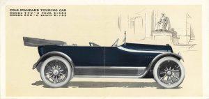 1915 COLE ADVANCE BLUE BOOK COLE STANDARD TOURING CAR MODEL 440-G FOUR $1485, MODEL 850-G EIGHT $1785 7″x10.25″ Inside 2