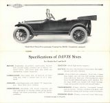1915 DAVIS MOTOR CARS Brochure Specifications of DAVIS Sixes for Models Six-C and Six-D pages 14 & 15