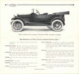 1915 DAVIS MOTOR CARS Brochure Model A-38 Davis Five-passenger-Touring Car, $1,235 – Completely equipped Specifications of Davis fours continued from page 7 pages 8 & 9