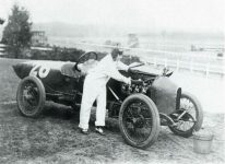 1916 ca Woman working on STUTZ race car Washington DC modern postcard