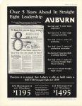 1930 Over 5 Years Ahead In Straight Eight Leadership AUBURN AUTOMOBILE COMPANY AUBURN INDIANA House and Garden page 16