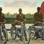ca 1910 YALE Motorcycle racing team PC F