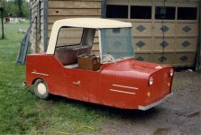 1993 ca. 1950s Electric 3 Wheeler Furnas Electric Co Batavia ILL snapshot 1993 Off Highway 61 Up North MN 1993 Front