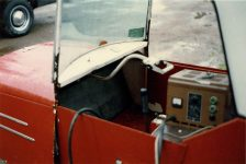 1993 ca. 1950s Electric 3 Wheeler Furnas Electric Co Batavia ILL snapshot Off Highway 61 Up North MN 1993 Inside