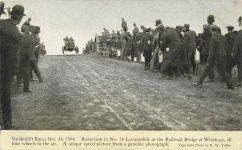 1908 10 24 Vanderbilt Race Robertson in No 16 Locomobile postcard front