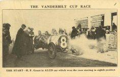 1908 ca Vanderbilt Cup Race ALCO won postcard front