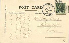 1909 10 5 LOZIER racing postcard back