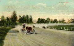 1910 8 5 postmark AN AUTO RACE postcard front