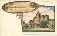 1910 ca Lakeside Inn CAL auto racing postcard front