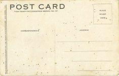1910 ca Lakeside Inn Speedway CAL auto races postcard back