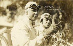 1911 11 27 Winner of Vanderbilt Cup Race Ralph Mulford Lozier No 8 RPPC front