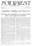 1912 11 1 Franklin Cadillac and National MOTOR WEST front page xerox Source Blain Motorsports Foundation