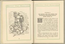 1912 MOTOR CAR ANATOMY by Franklin Pierce 5″×6″ pages 12 & 13